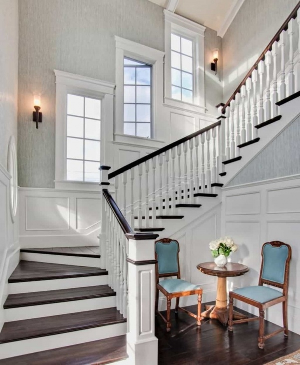 Awesome Staircase Wall Window Design Image 205