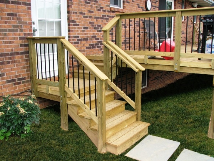 Awesome Wood Deck Stair Railing Photo 109