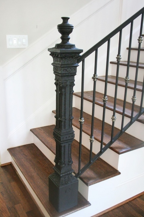 Awesome Wrought Iron Newel Post Photo 117
