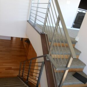 Brushed Steel Banister