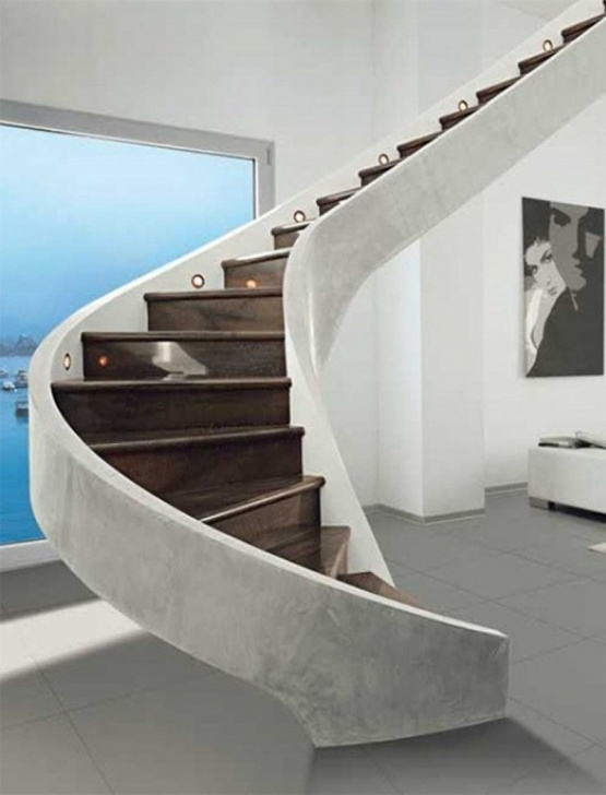 Best Cool Floating Spiral Staircase Photo 801