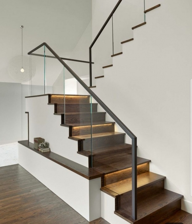 Best Cool Wood And Glass Staircase Railing Photo 668