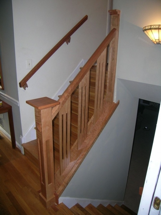 Best Cool Wood Stair Railings Interior Picture 310