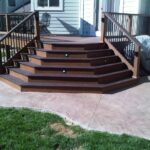 Best Cool Wood Steps On Concrete Patio Photo 152