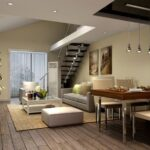 Best Duplex Living Room With Stairs Picture 997