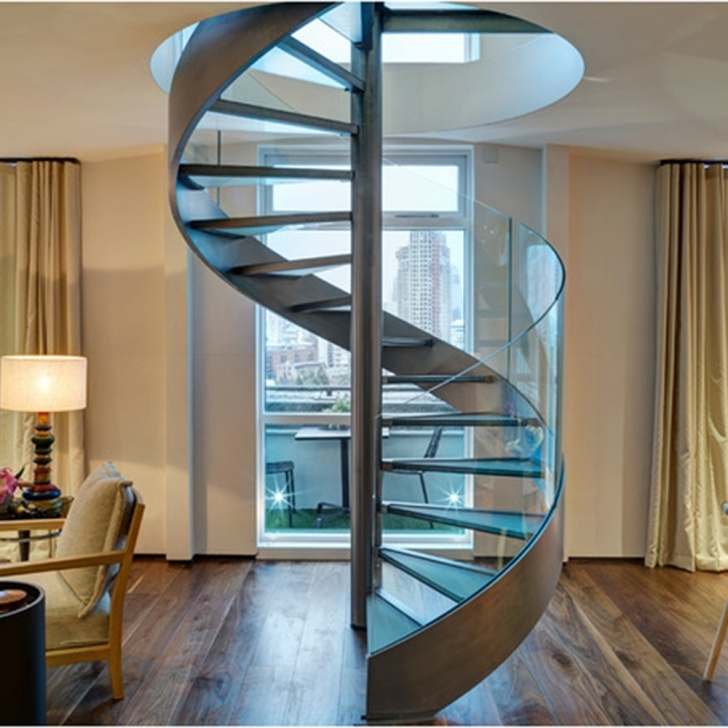 Best Glass Spiral Staircase Picture 027