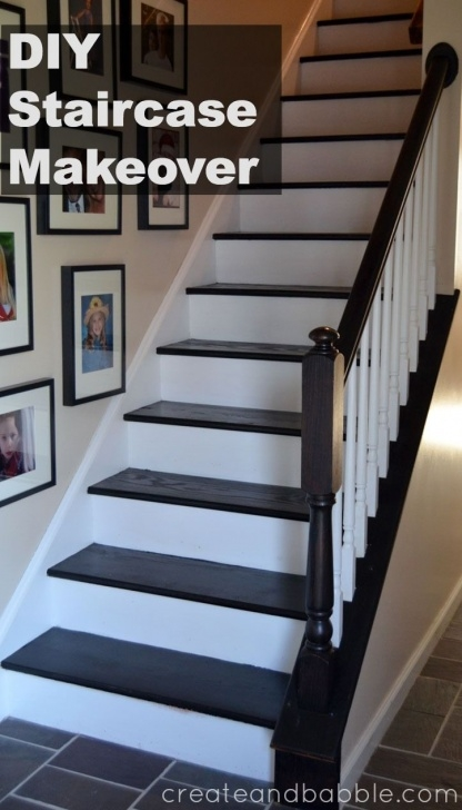 Best Painted And Stained Stairs Image 527