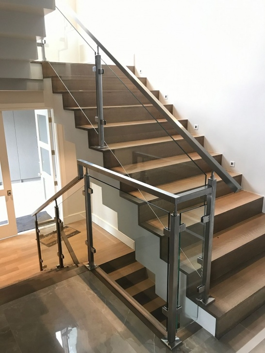 Best Stainless Steel Staircase With Glass Designs Image 829