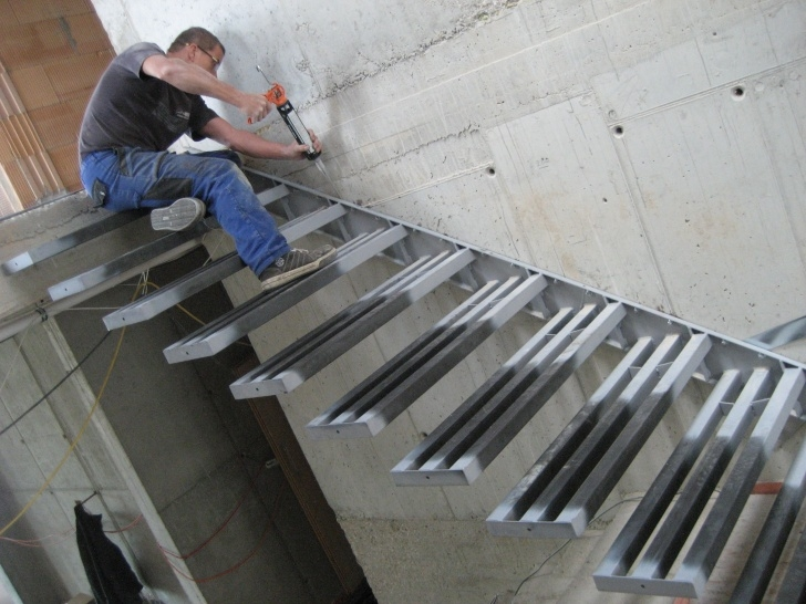 Best Steel Floating Stairs Photo 964