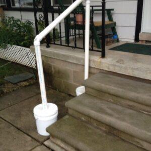 Temporary Stair Railing