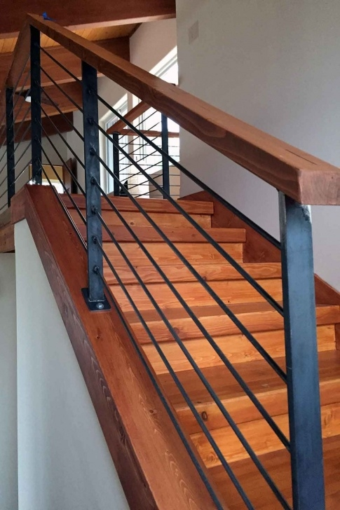 Best Wood And Metal Stair Railing Photo 062
