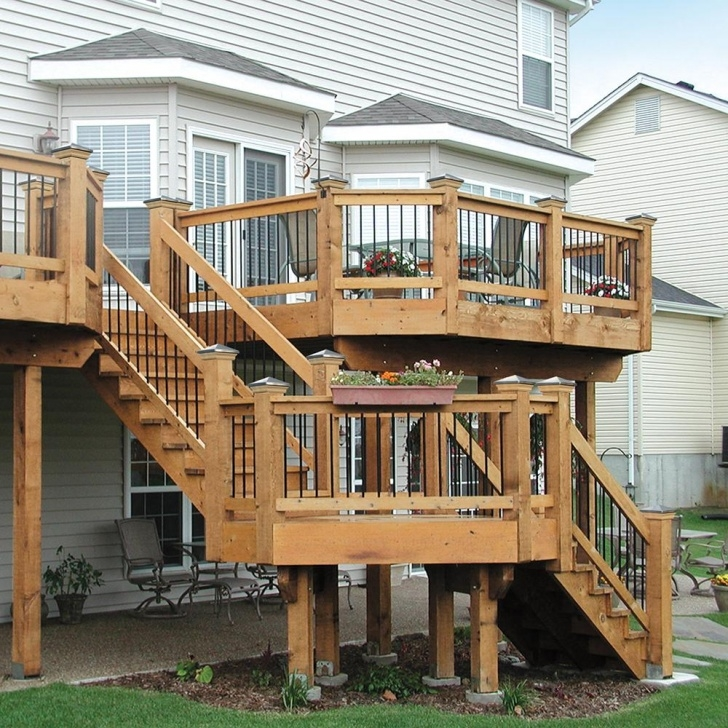Best Wood Deck Stairs Photo 660
