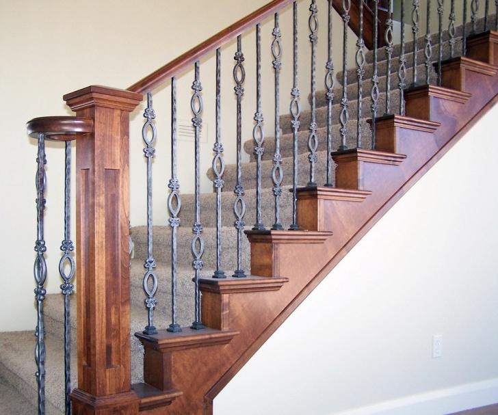 Best Wrought Iron And Wood Railing Photo 909