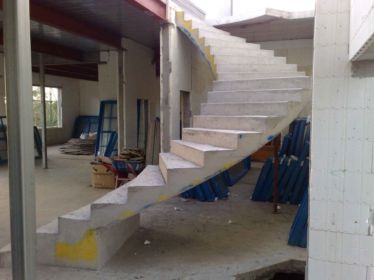 Cool Concrete Curved Stairs Image 873