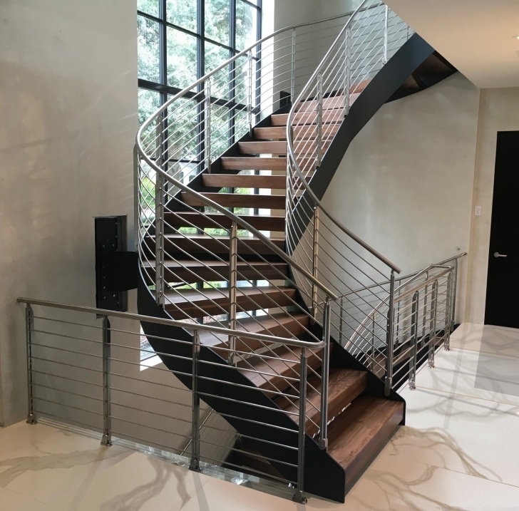 Cool Metal Staircase Design Photo 904
