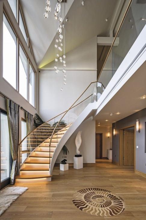 Cool Modern Grand Staircase Photo 206