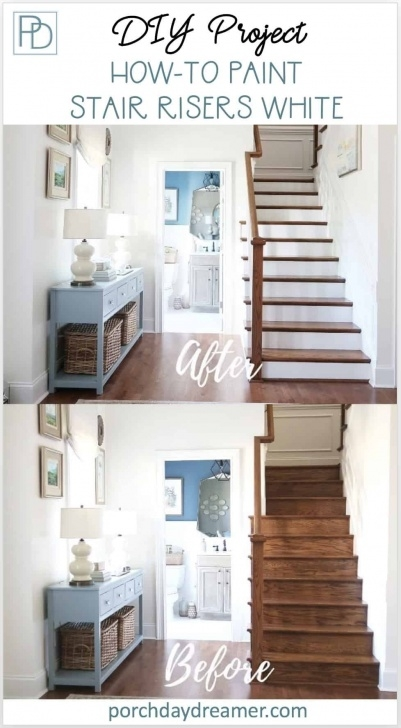 Cool Painted And Stained Stairs Picture 440
