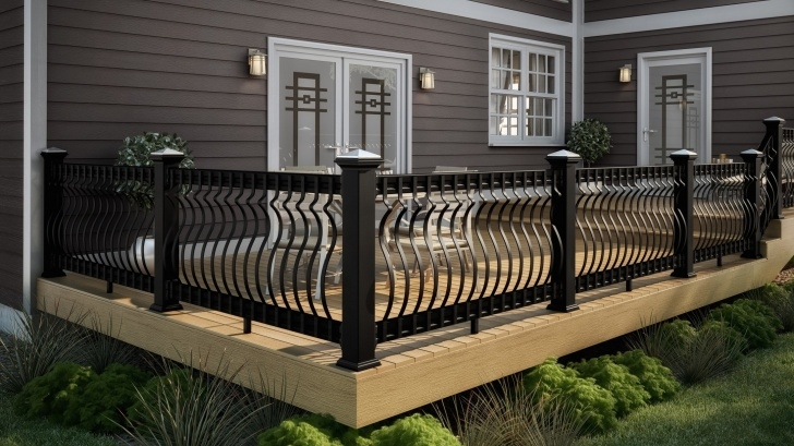 Cool Porch Handrails Metal Image 014