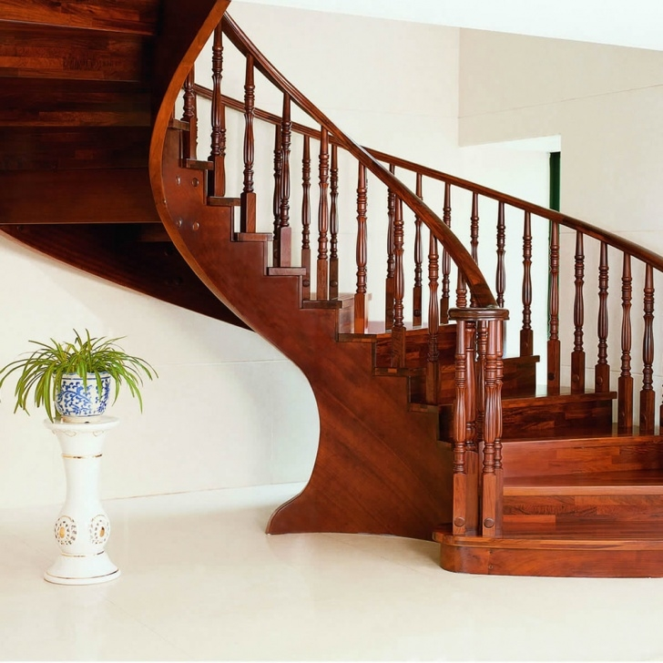 Cool Wood Stair Railing Image 501