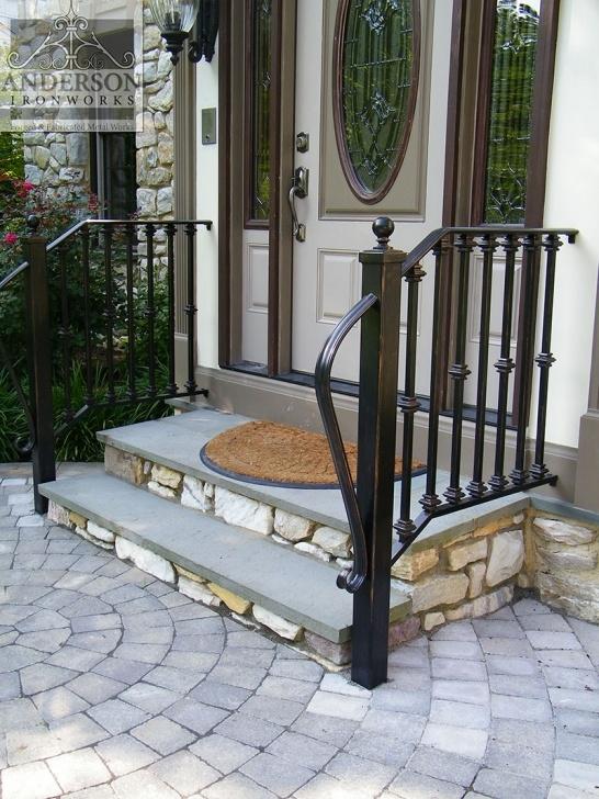 Creative Exterior Iron Stair Railing Photo 356