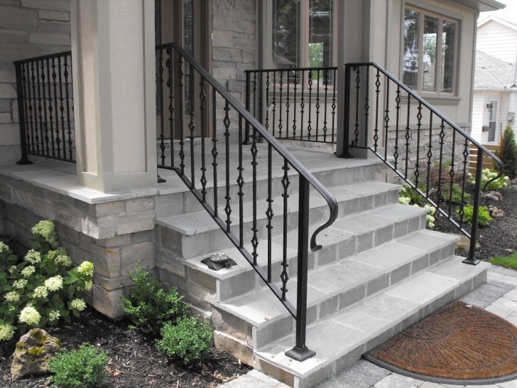 Creative Exterior Iron Stair Railing Picture 945