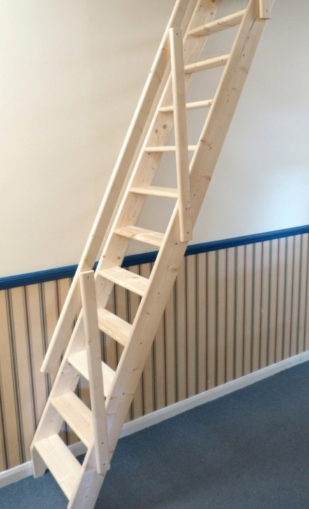 Creative Folding Stairs With Handrails Photo 102