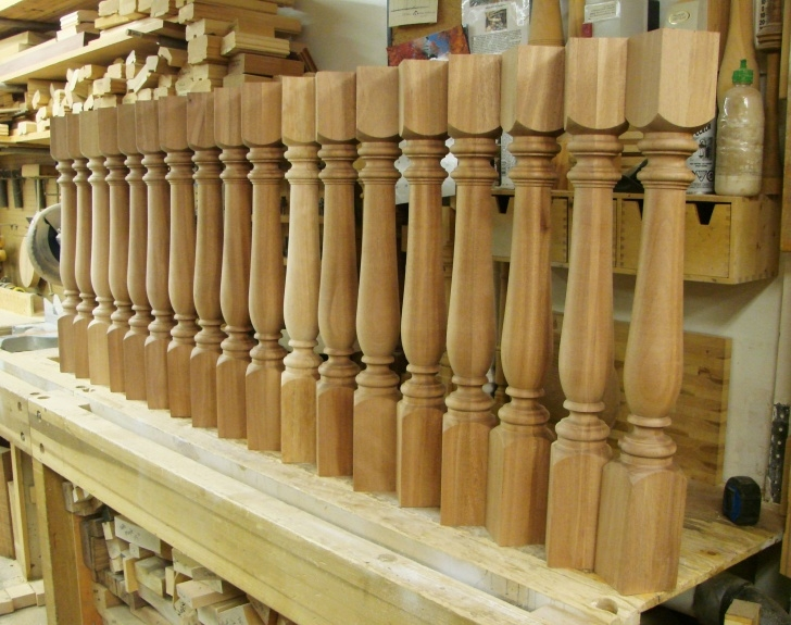 Creative Large Wood Balusters Picture 895