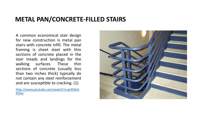 Creative Metal Pan Concrete Stairs Image 053