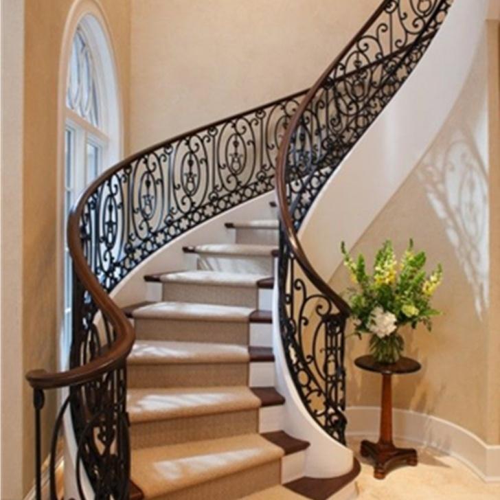 Creative Metal Stair Railing Indoor Image 146