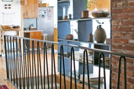 Mid Century Modern Stair Railing