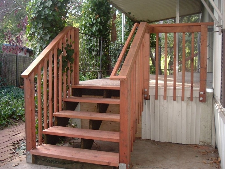 Creative Outdoor Wood Stair Railing Picture 797