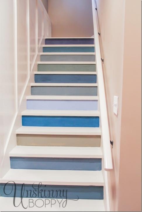Creative Painting Basement Steps Photo 442