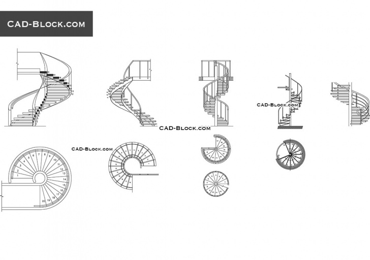 Creative Spiral Staircase Autocad Picture 169