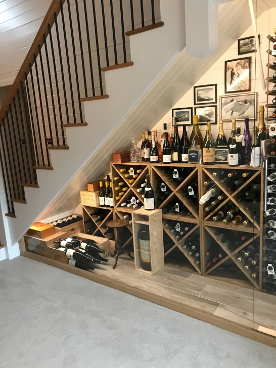 Creative Wine Bar Design Under Stairs Photo 005