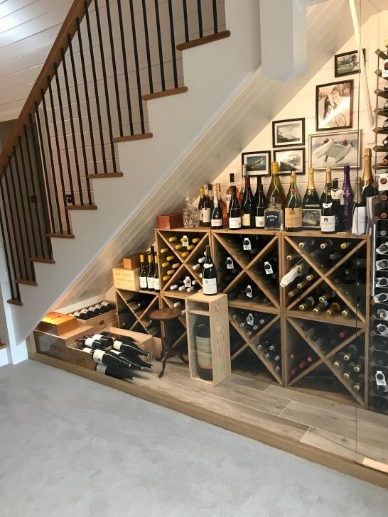 Creative Wine Bar Design Under Stairs Photo 005