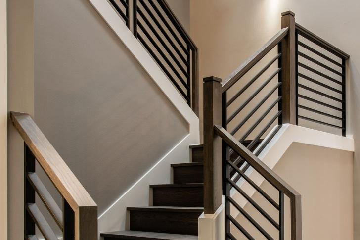 Creative Wood And Iron Stair Railing Photo 167