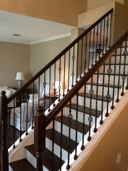 Creative Wrought Iron Stair Railings Interior Image 552