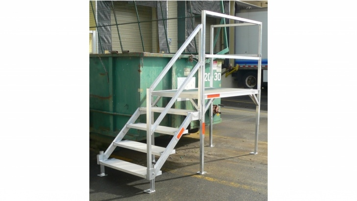 Easy Aluminum Steps With Handrail Picture 682