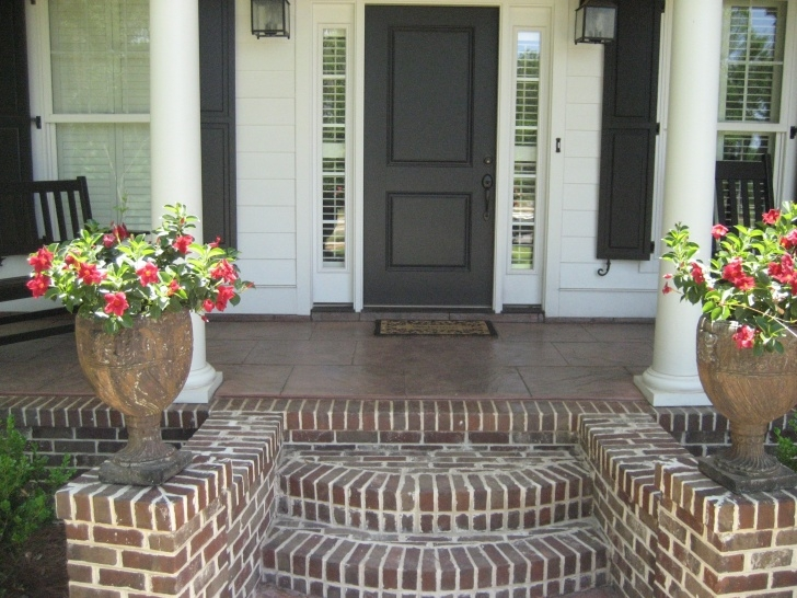 Easy Brick Steps To Wood Porch Image 822