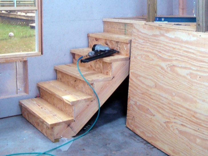 Easy Building Wooden Stairs Photo 013