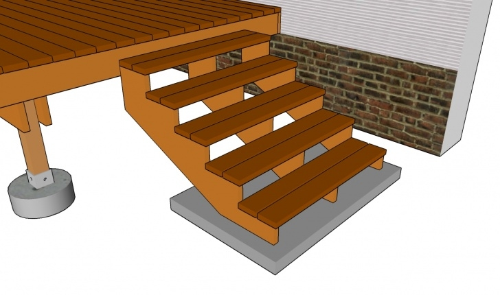 Easy Deck Stairs Design Picture 798