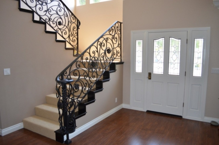Easy Iron Stair Railing Indoor Image 032