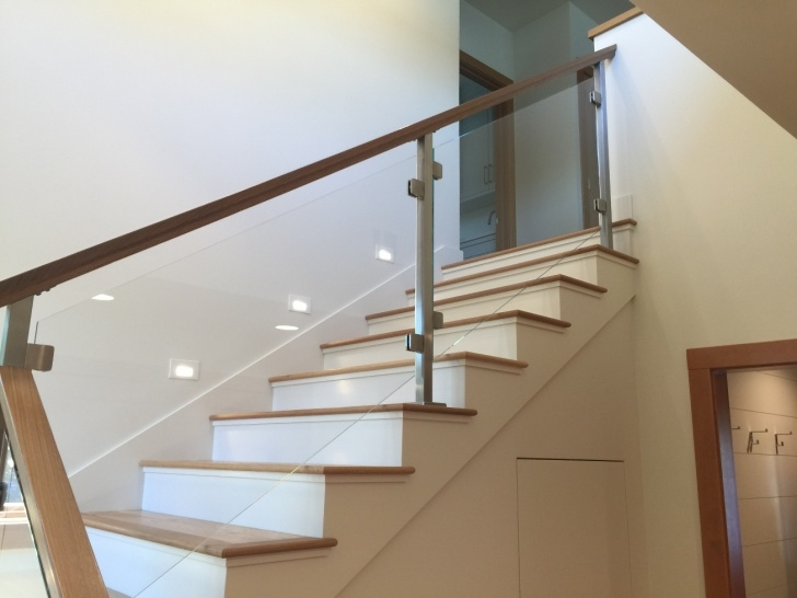 Easy Oak Handrail For Glass Image 597