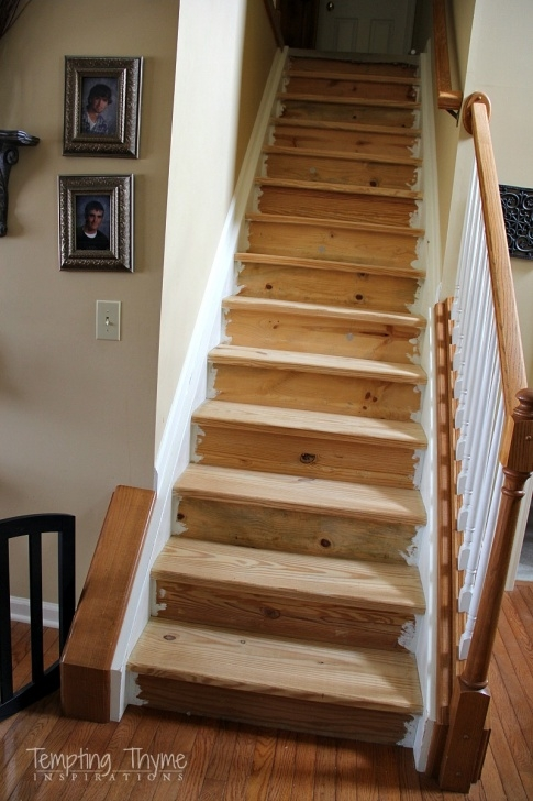 Easy Sanding And Staining Stairs Image 393