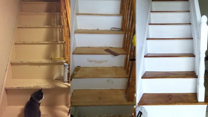 Easy Sanding Old Stairs Image 102