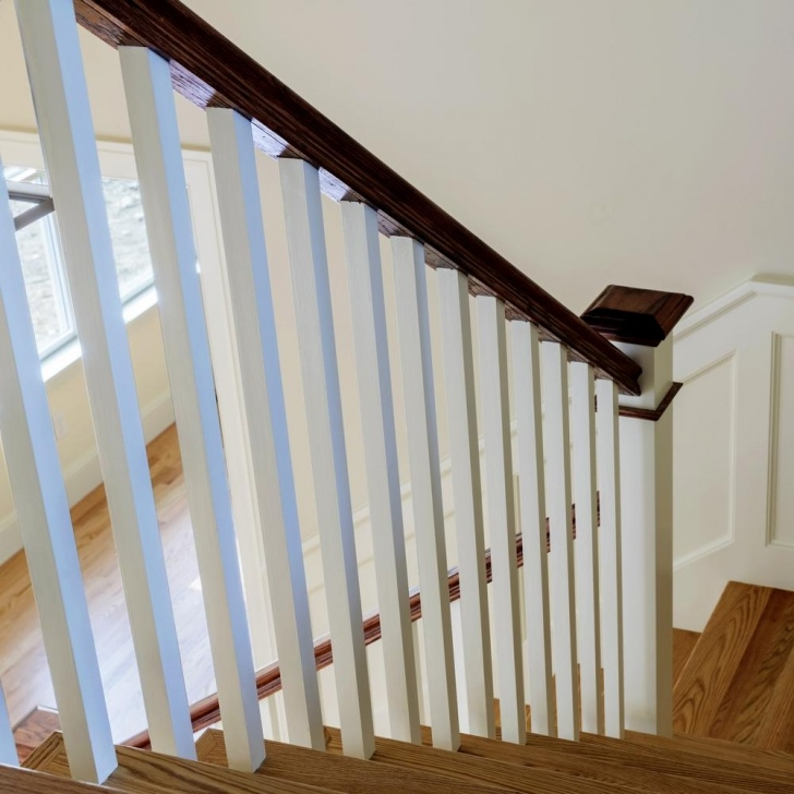 Easy White Stair Railing Photo 378