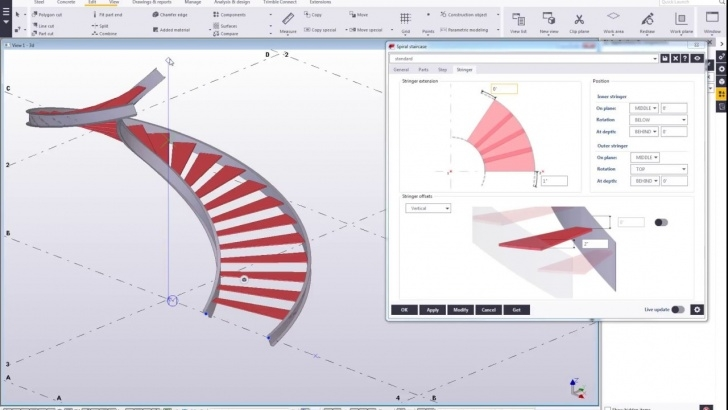 Fantastic Helical Staircase Structural Design Photo 549