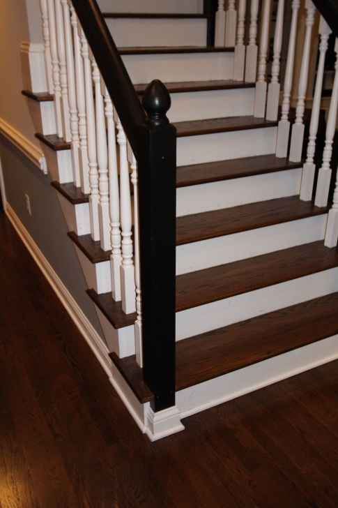 Fantastic Painted And Stained Stairs Picture 231