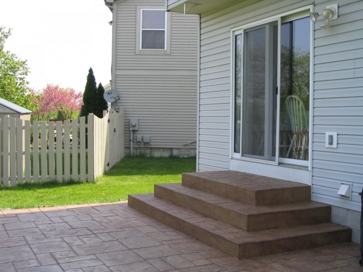 Fantastic Patio With Stairs From House Image 894