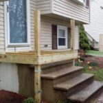 Fantastic Wood Front Steps Over Concrete Picture 589